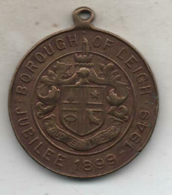 borough of leigh jubilee medal 1899-1949