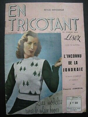 EN TRICOTANT Issue No. 63 (1940) – vintage French fashion knitting