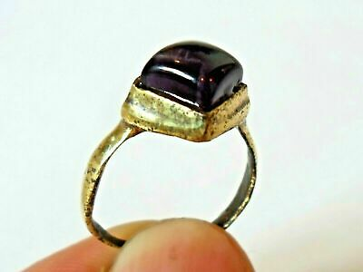 X-Mas Gifts,Detector Find,200-400 A.d Roman Ae Ring With Real Gemstone,Polished