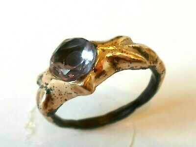 Unique Gifts,Detector Find,200-400 Ad Roman Ae Ring With Real Gemstone,Polished.