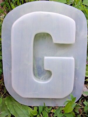 Letter D  plastic mold SEE 26 letters available