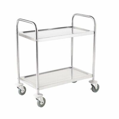 Vogue Stainless Steel 2 Tier Clearing Trolley Large 930 x 860 x 535mm - F998