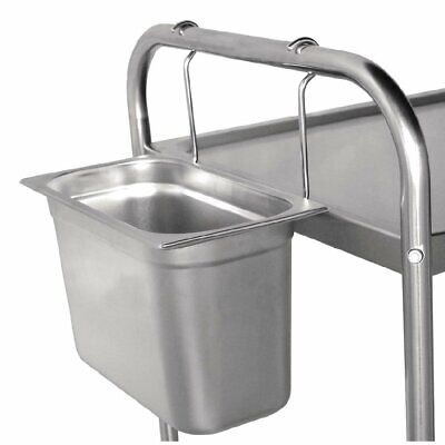 Vogue Stainless Steel Hanging Refuse Collector Trolley 200(D)mm 7.5 litre - S309