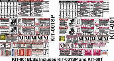 Bilingual Crane Safety Sticker Kit in Spanish and English