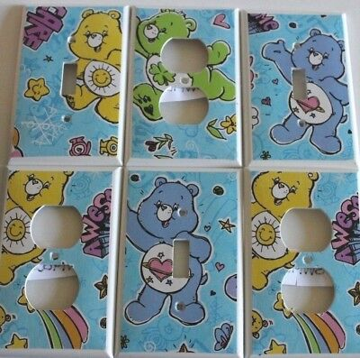 Switchplate Covers - CARE BEARS - Kids Room - Light Switch or Electrical Outlet