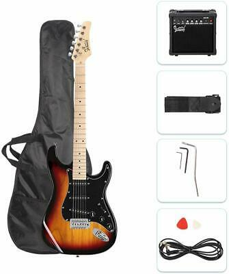 "GLARRY 39"" Full Size Electric Guitar with 20W Amp and Accessories & Bag Sunset"