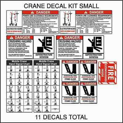 Crane Safety Decal Kit Small