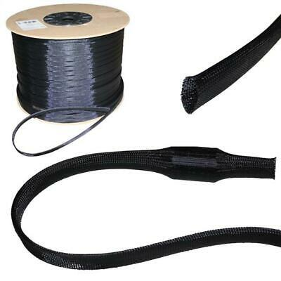 10m 50mm (40-65mm) Expandable polyester braid sleeve cable sleeves