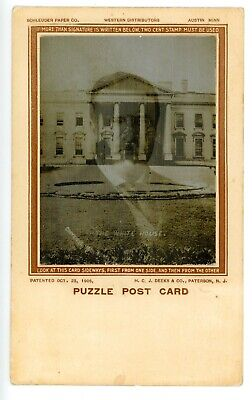 Political - THEODORE ROOSEVELT & WHITE HOUSE - RPPC Lenticular Postcard Novelty