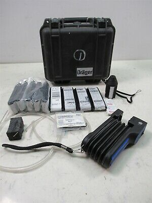 Drager Accuro Gas Detector Pump Detection Analyzer Hard Case & Accessories NOS