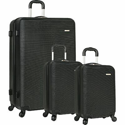 Travel Gear Hardside Spinner Luggage Set with 2 Carry Ons Black 32,19,19
