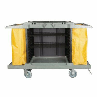 Jantex Housekeeping Trolley 990(H) ×1460(W) × 540(D)mm Cleaning Hotel - DL011