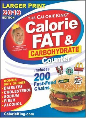 Calorieking 2019 Calorie, Fat & Carbohydrate Counter 9781930448728   Brand N