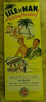 Vintage Isle Of Man Holiday Brochure From C1950'S Althams Dewsbury Burnley