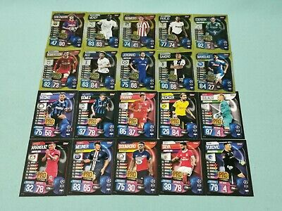 Topps Match Attax Champions League 2019/2020 alle 20 Performer 19/20