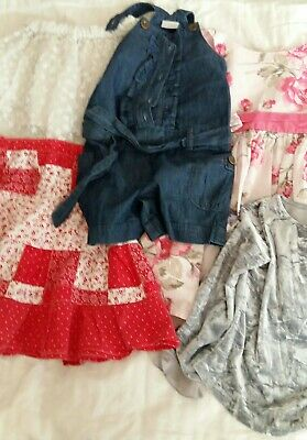Girls NEXT Clothing Bundle Age 3-4 years. Party dress, white skirt, velvety top