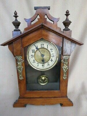 Antique Haller 30 Hour Shelf Clock For Spares Or Repair