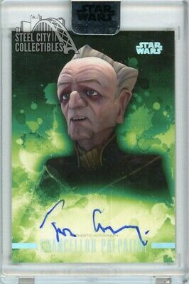 Tim Curry Chancellor Palpatine 2019 Topps Star Wars Stellar Signature Auto 10/40