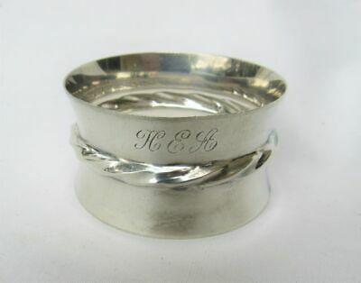 Vintage Towle 102 Silver Flutes Sterling Silver Napkin Ring 1940's