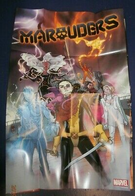 """Marvel  All-New Hawkeye Double Side Spider-Woman10/""""x13/"""" Folded PROMO POSTER!"""