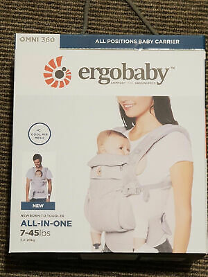 ERGOBABY 360 OMNI COOL AIR MESH ERGO BABY Carrier. Pearl Grey colour.