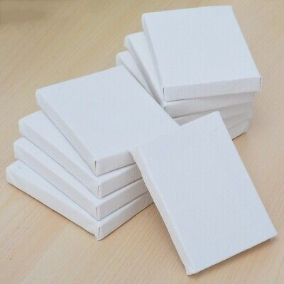 10pcs Blank White Mini Small Stretched Artist Canvas Acrylic Oil Paint