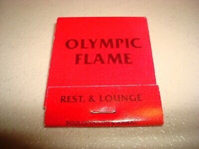 Rare Vintage Matches Olympic Flame Schererville Indiana USA Original!
