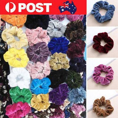 Satin Silk Scrunchies Ponytail Holder Bright Hair Rope Bands Accessories Lot G