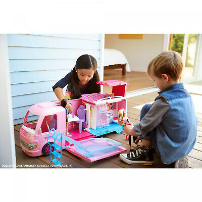2019 Barbie DreamCamper Adventure Camping Playset With Accessories