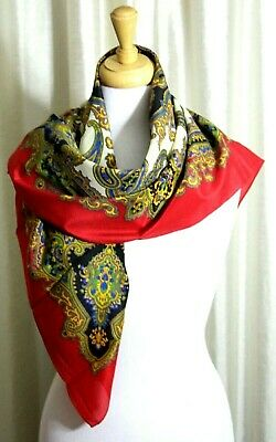 shamoz silk handmade, brown or green or blue Long scarf
