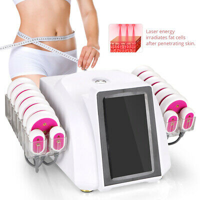 16 Pads Lipo Laser Fat Slimming Body Cellulite Removal Weight Loss Machine Salon