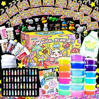 KIDS Gifts DIY Slime Craft Art Kit Jelly Cube Glitter Magic Clay Christmas Toys