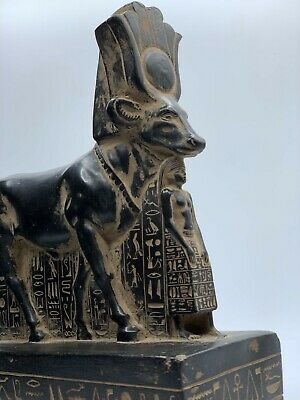 RARE EGYPTIAN ANCIENT EGYPT ANTIQUITIES Hathor as Cow Gods Psamtik 664 BC