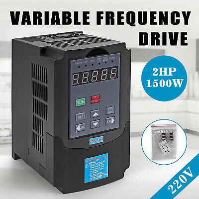 1.5Kw 220-250V 2Hp 7A Variable Frequency Drive Inverter Vfd Speed Control Ce