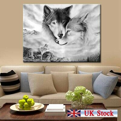 Wolf Nature Print Canvas Wall Art Painting Home Hanging Picture Decor Frameless