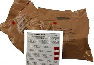 LOT of 2 X BRITISH ARMY PATROL COMBAT 12 HOUR RATION PACKS MENU 1 BEEF CURRY