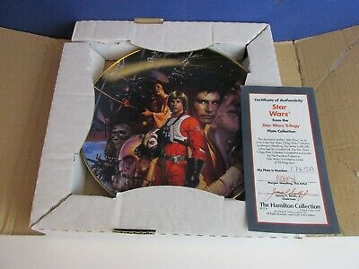 rare STAR WARS TRILOGY THE HAMILTON COLLECTION PLATE 1992 collectable #67