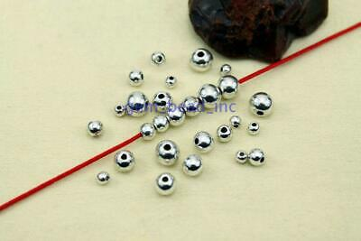 Wholesale Metal Round Spacer Beads Smooth Ball End Seed Bead For Jewelry Making