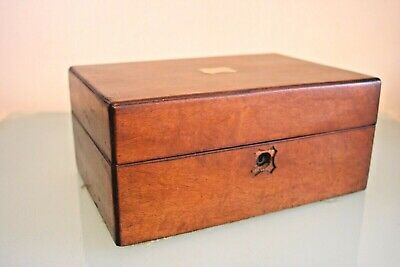 Antique Rosewood Sewing/Jewellery Box with Brass Inlaid 4 1/2'' (12cm) tall