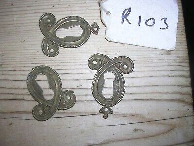 3 Antique Brass Escutcheon (R103)