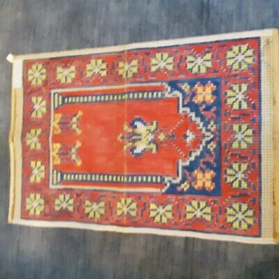 1 Vtg German Rug Hooking Printed Canvas Pattern/Design 60 cm x 80cm SEE PICTURES