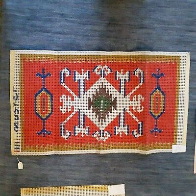 1 Vtg German Rug Hooking Printed Canvas Pattern/Design 50 x 80cm SEE PICTURES