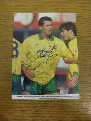 1988-1994 Autograph(s): Newcastle United - Liam O'Brien [Hand Signed Colour Maga