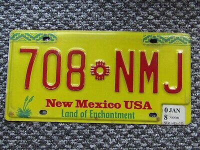Plaque d'immatriculation NEW MEXICO  US USA license plate