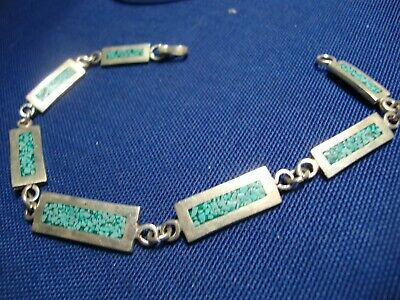 Grandmas Estate 925 Sterling Silver Old Pawn Chunky Bracelet