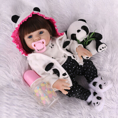 "18"" Reborn Baby Dolls Full Body Vinyl Silicone Lifelike Doll Anatomically Xmas"