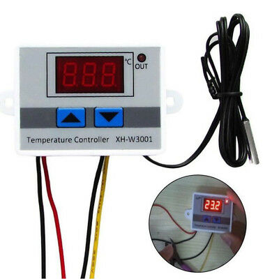 NEW 220V Digital LED Temperature Controller 10A Thermostat Switch Probe US