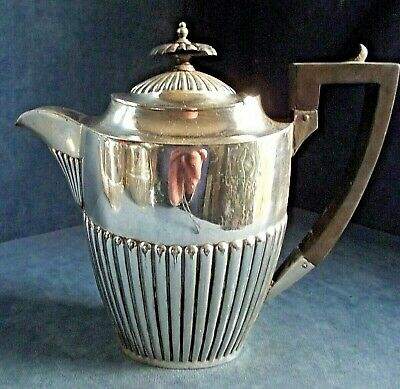 Good LARGE ~ SILVER Plated ~ FLUTED Juice / Water JUG ~ c1900 by Walker & Hall