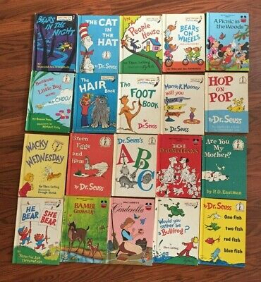 LOT OF 20 DR. SEUSS BOOKS Bright & Early Beginner WALT DISNEY'S & MORE VINTAGE