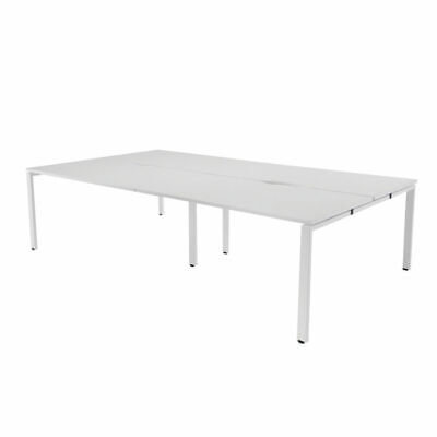 NEW! Arista White 1400mm 4 Person Bench System KF838961